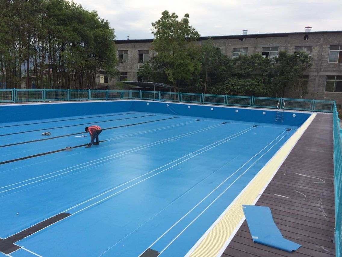 温泉镇温泉社区游泳池防水工程