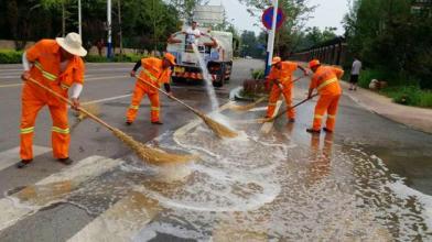 从化流溪河林场红岭工区社区街道路面清洗